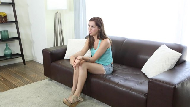 Fully clothed teenager Kasey Warner giving handjob and blowjob  1372636