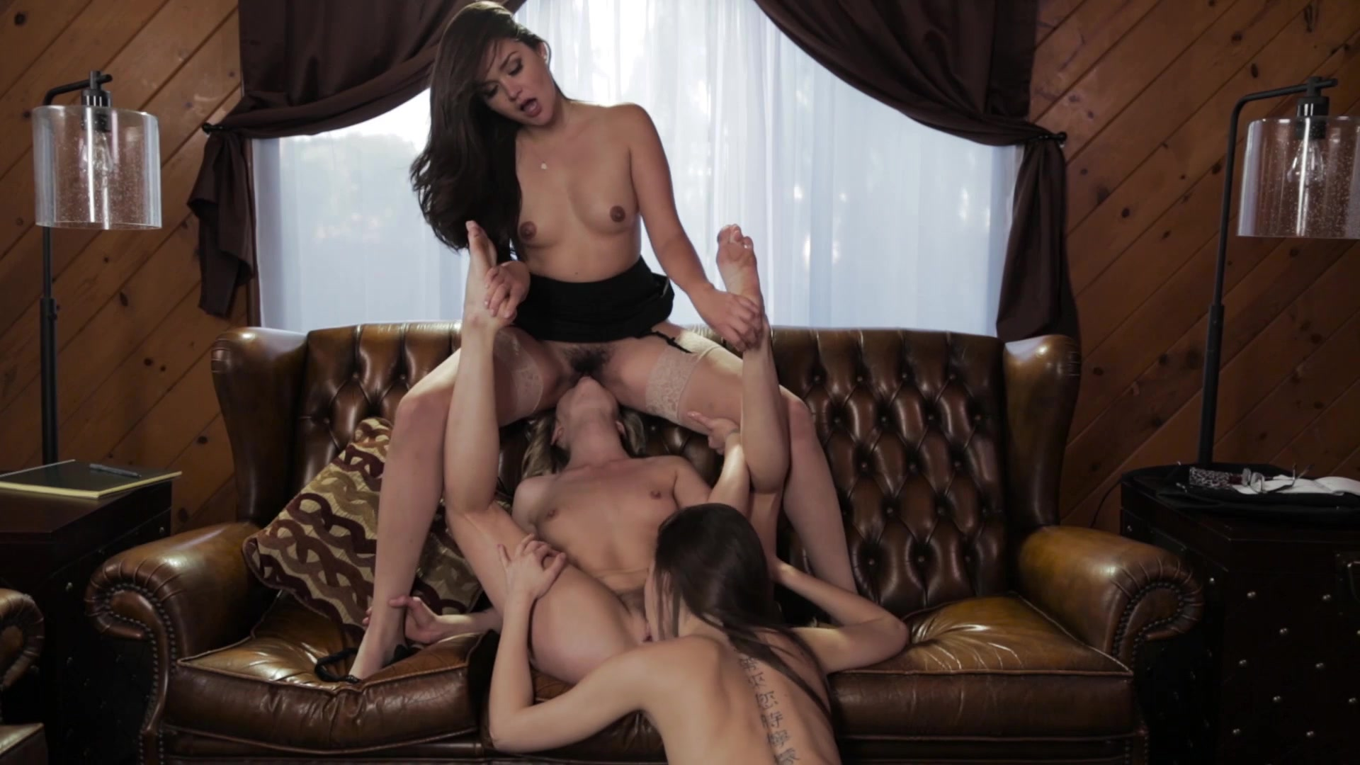 Scene with Allie Haze, Riley Reid and Karla Kush - image 11 out of 20