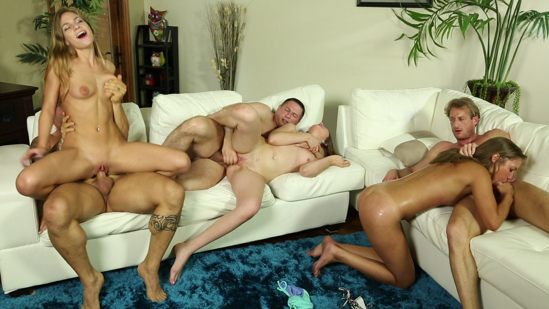 Three Excited Couples Have a Wild Partner Swapping Fuck Fest
