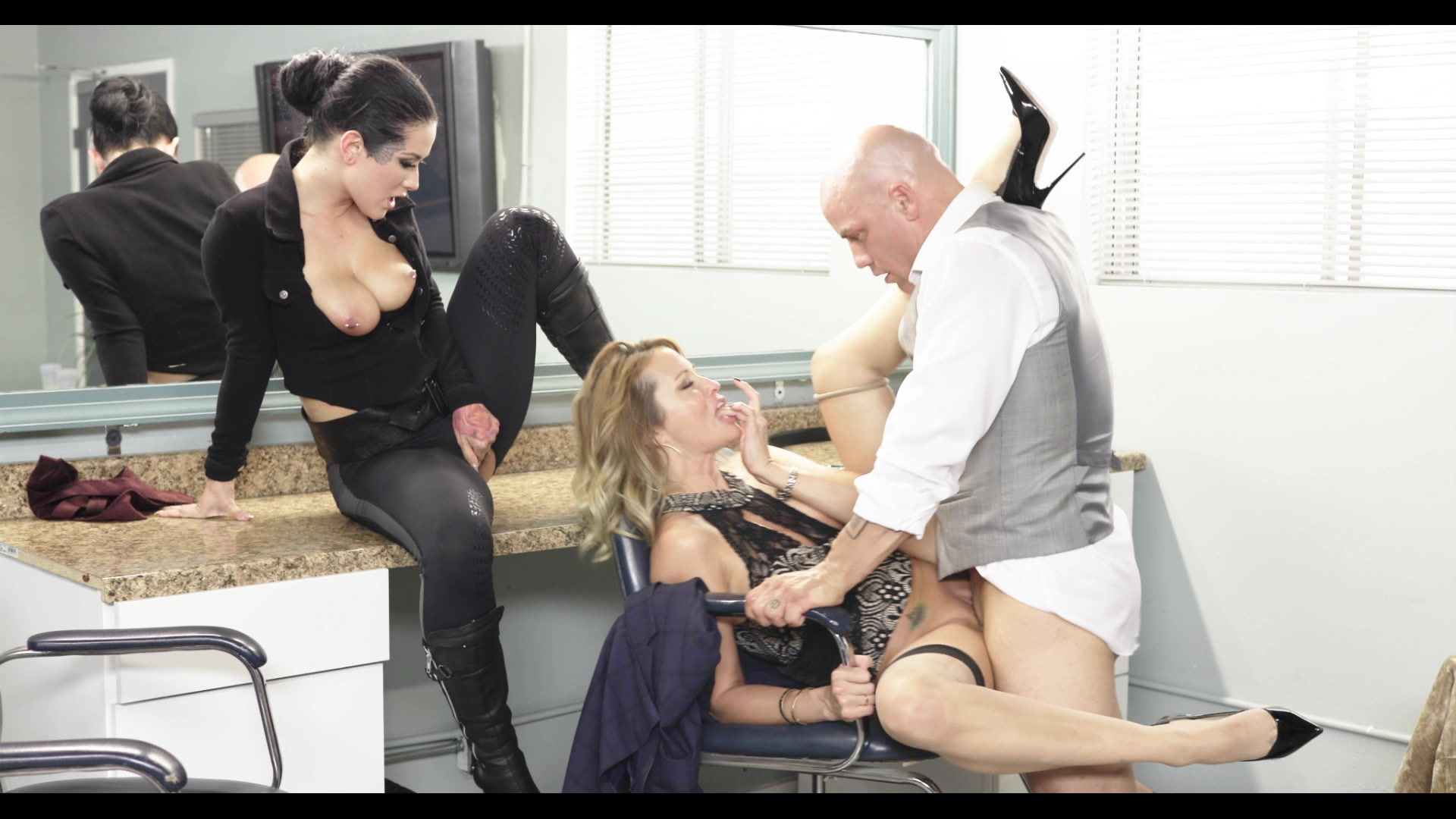 Scene with Jessica Drake, Derrick Pierce and Katrina Jade - image 19 out of 20
