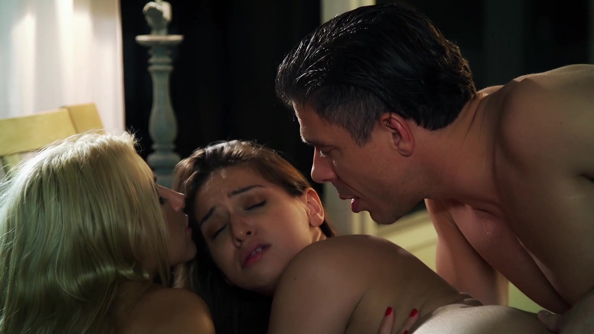 Scene with Mick Blue, Anikka Albrite and Sara Luvv - image 14 out of 20
