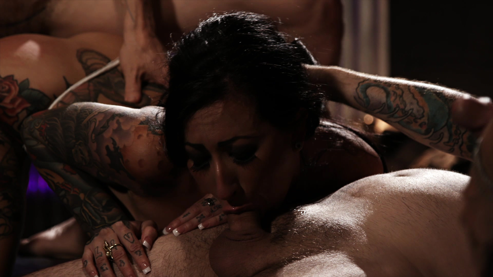 Scene with Tommy Pistol, Lily Lane and Owen Gray - image 9 out of 20