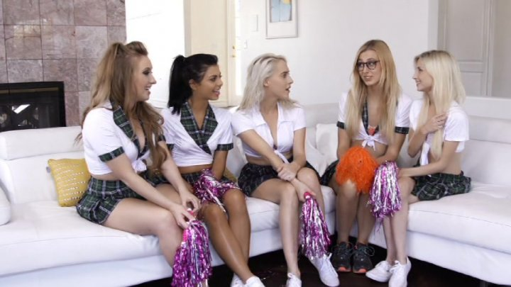 Will all girl cheerleader orgy something