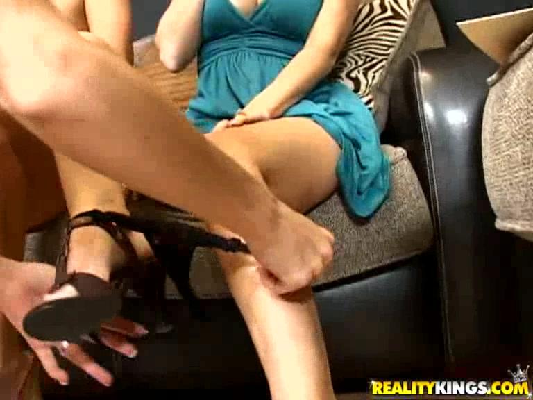 Brunette milf masturbating at the doorway
