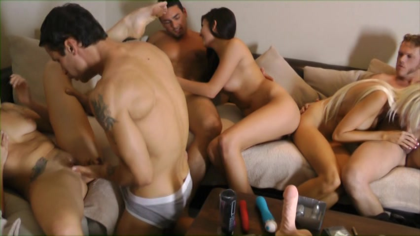 Slumber party orgy and big cock anal three steaming best mates signed