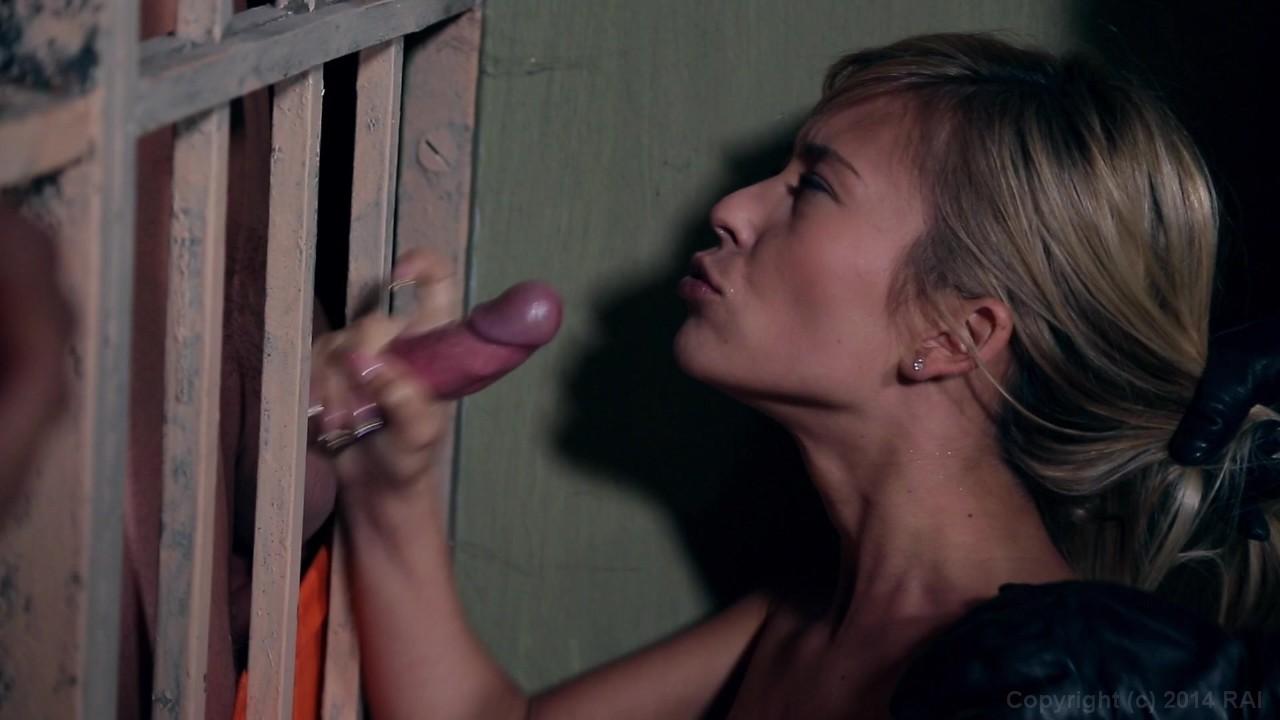 Prison Slave Gives Deepthroat Blowjob