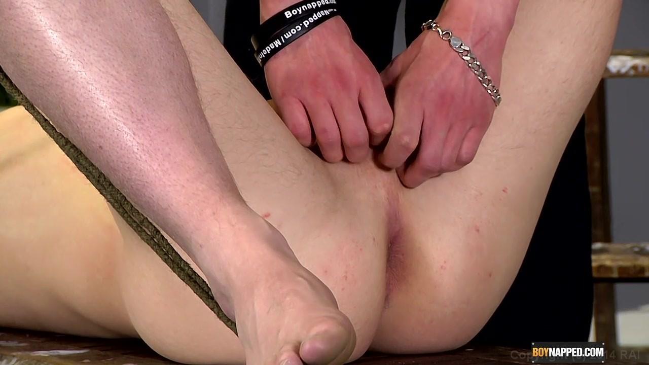 Gay bondage handjob