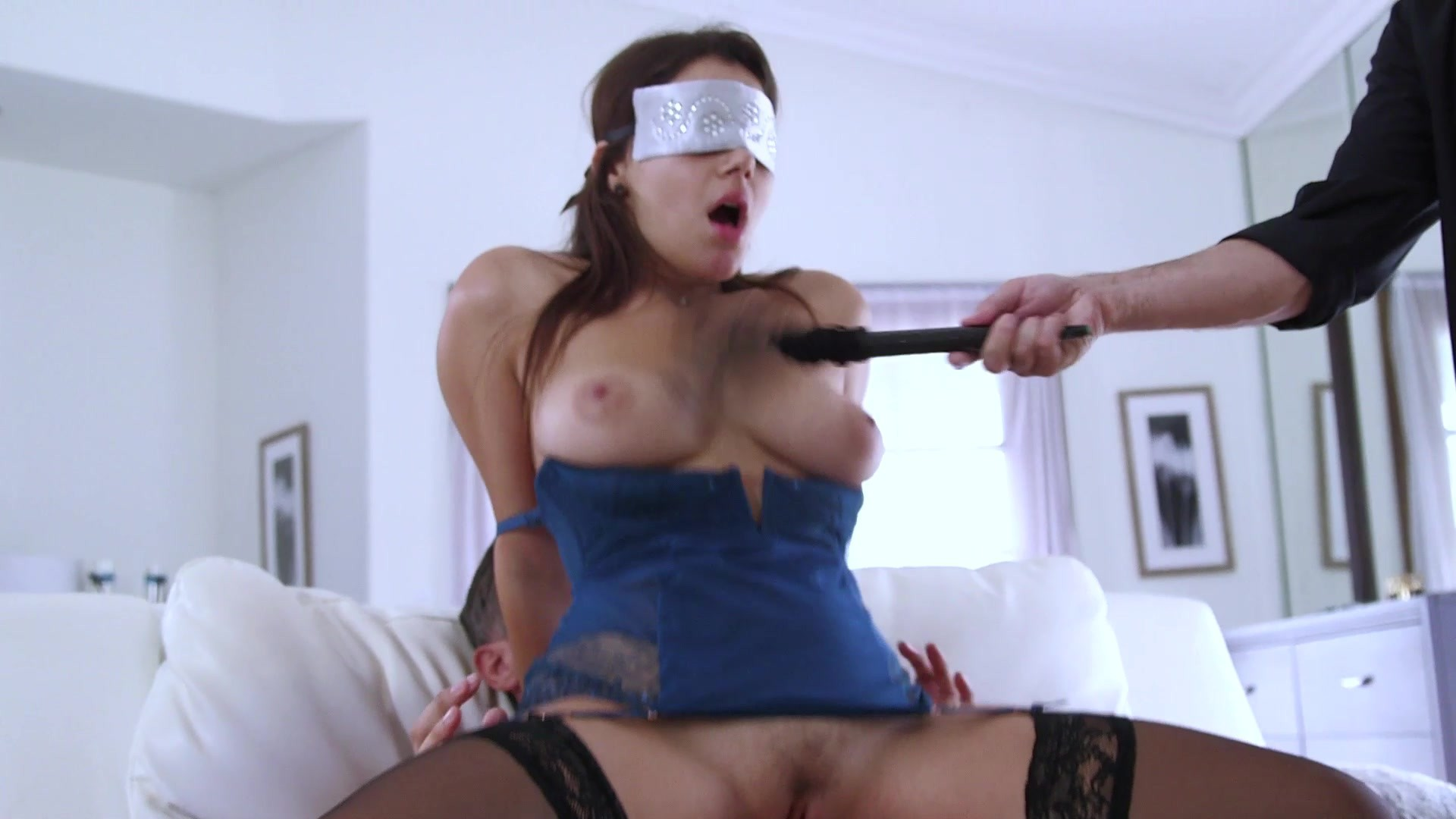 image Blindfolded brainiac takes another bbc facial