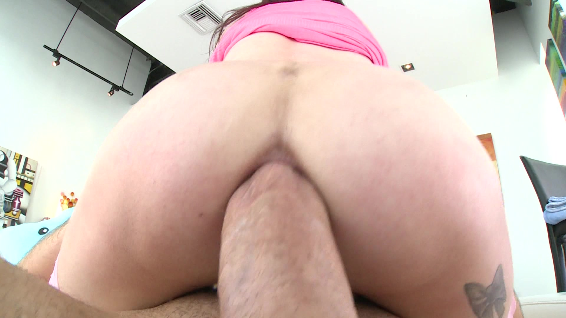 hairy pussy of marley brinx covered with cum