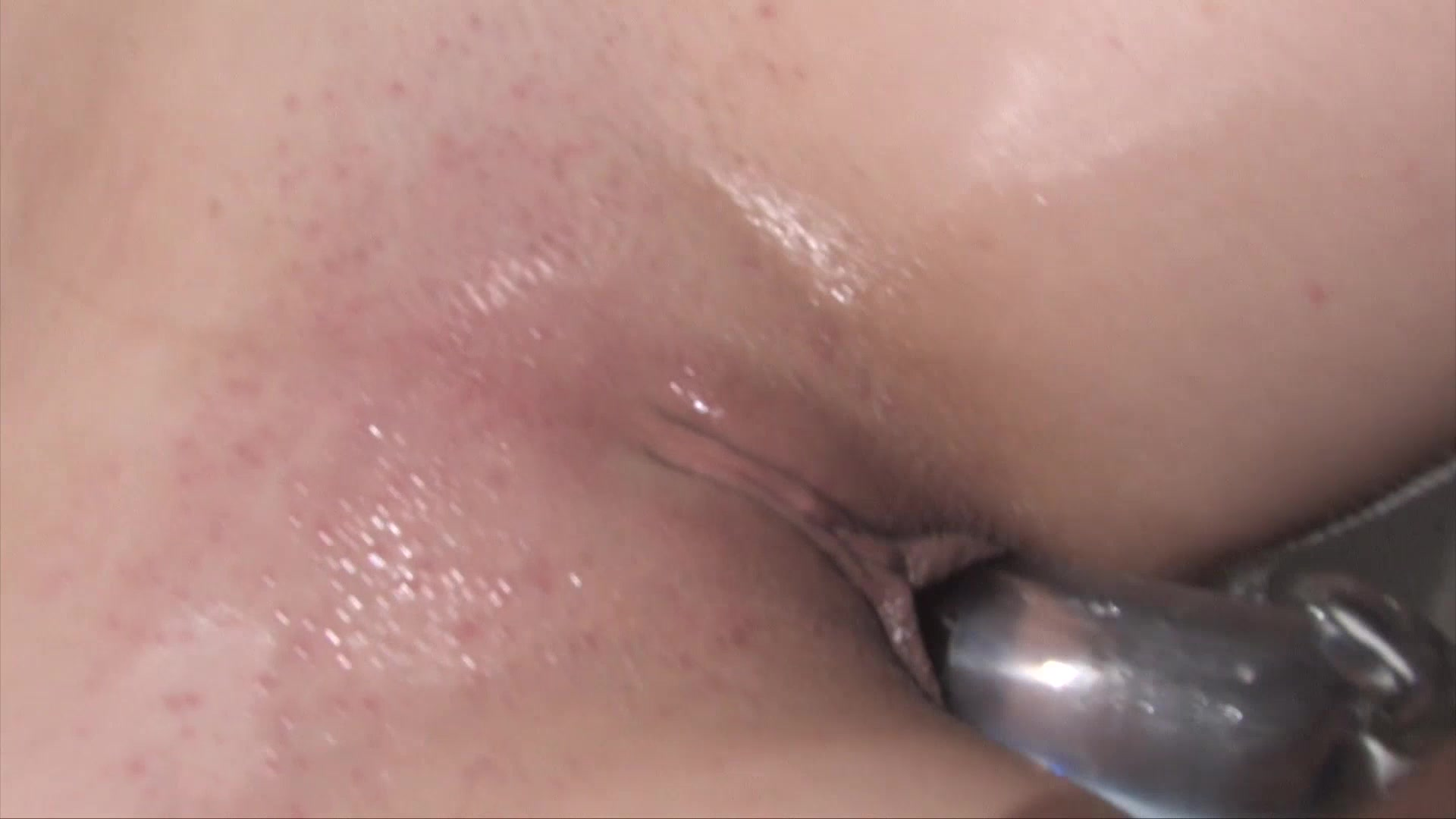 Running water on clit video