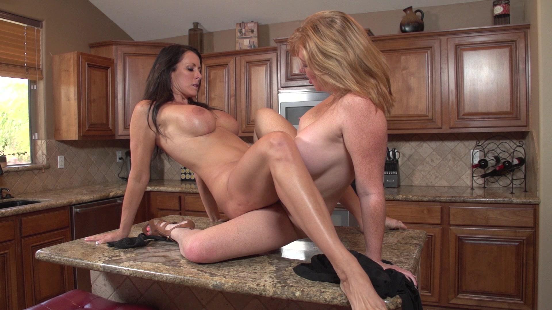 Kitchen lesbian mature