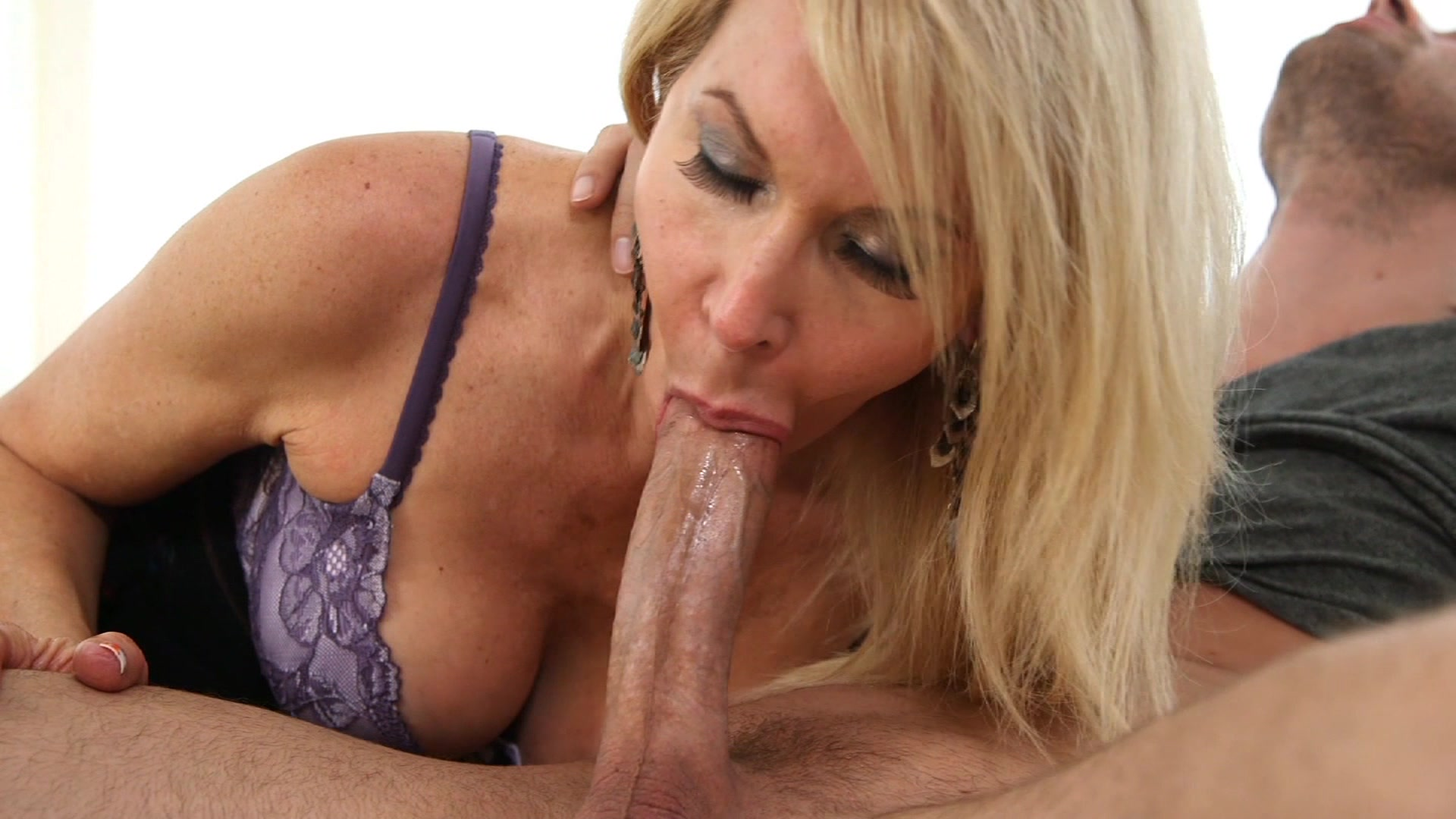Kianna bradley strokes and licks a cock until she gets cum - 1 part 5