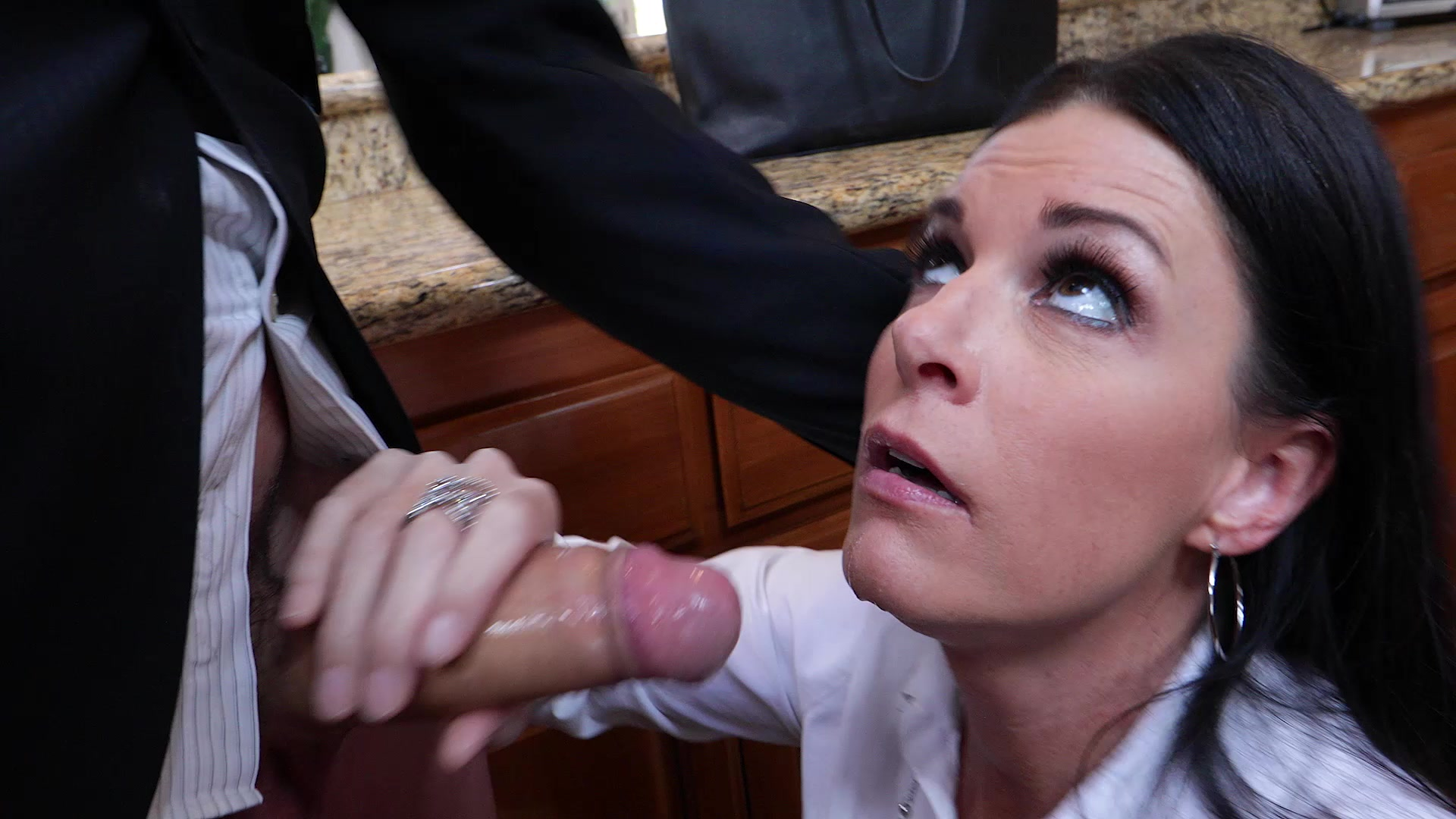Step Mom Blackmailed Into Fucking Son -