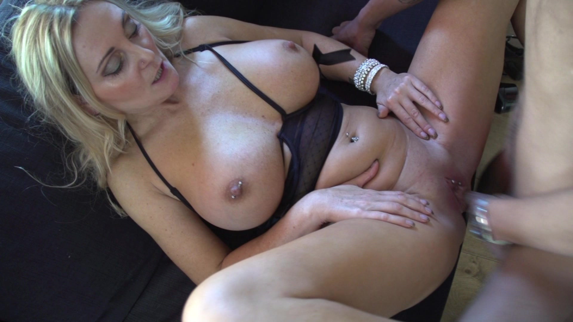 Blonde milf shares black cock
