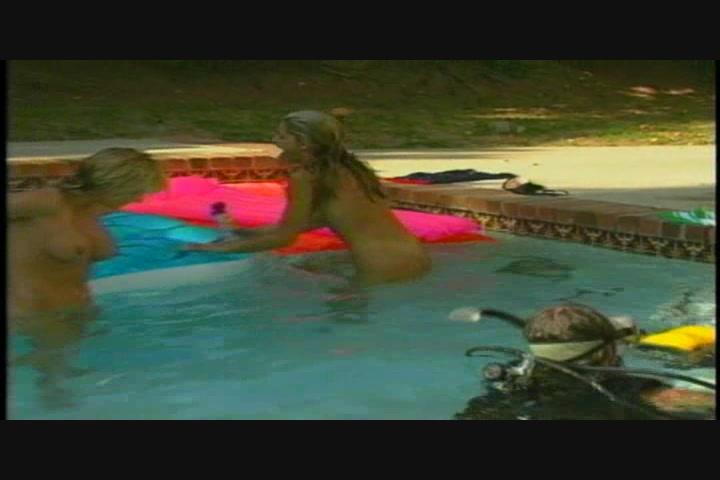 flag seymores Pool bikini party
