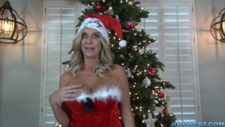 Jodi West - Santa Gets a Handjob image one