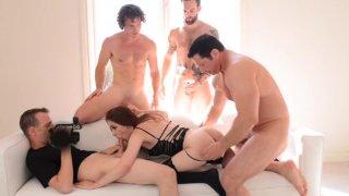 Streaming porn video still #1 from Anna De Ville: Gangbang POV