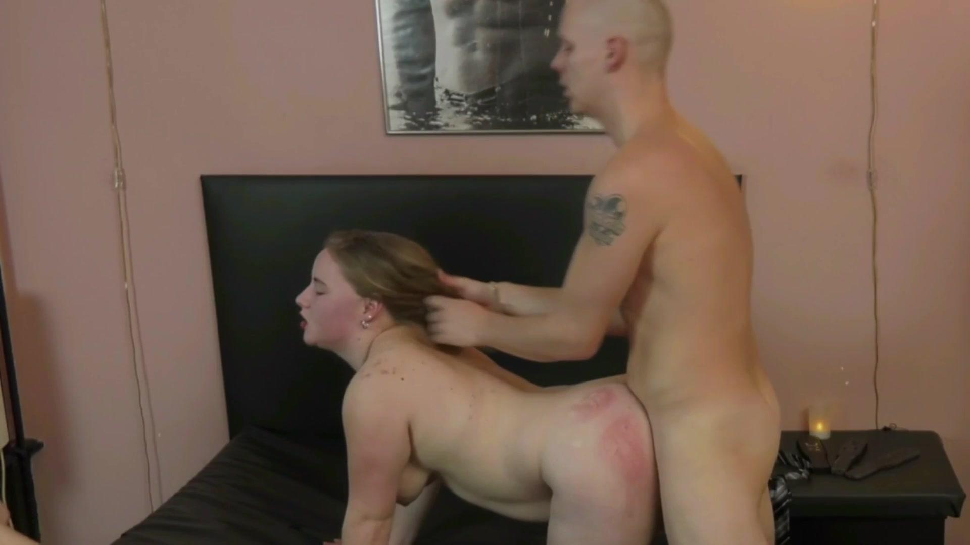 Rough sex spanking