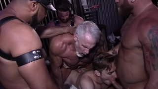 Father Son Bareback Gangbang