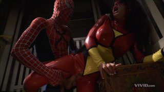 Streaming porn video still #3 from Superman vs Spider-Man XXX: A Porn Parody