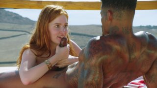 Lovely Redhead Jia Lissa Enjoys Hot Interracial Sex with Tatted Black Stud Jason Luv