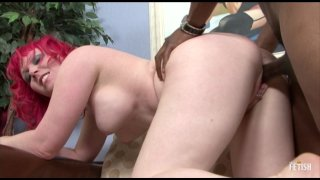 Streaming porn scene video image #7 from Thick Redhead Rides Some Black Cock