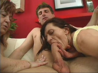 Streaming porn scene video image #1 from Horny son fucked by his mother and grandmother