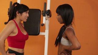 Streaming porn video still #1 from Lesbian Beauties Vol. 17: Black & Asian