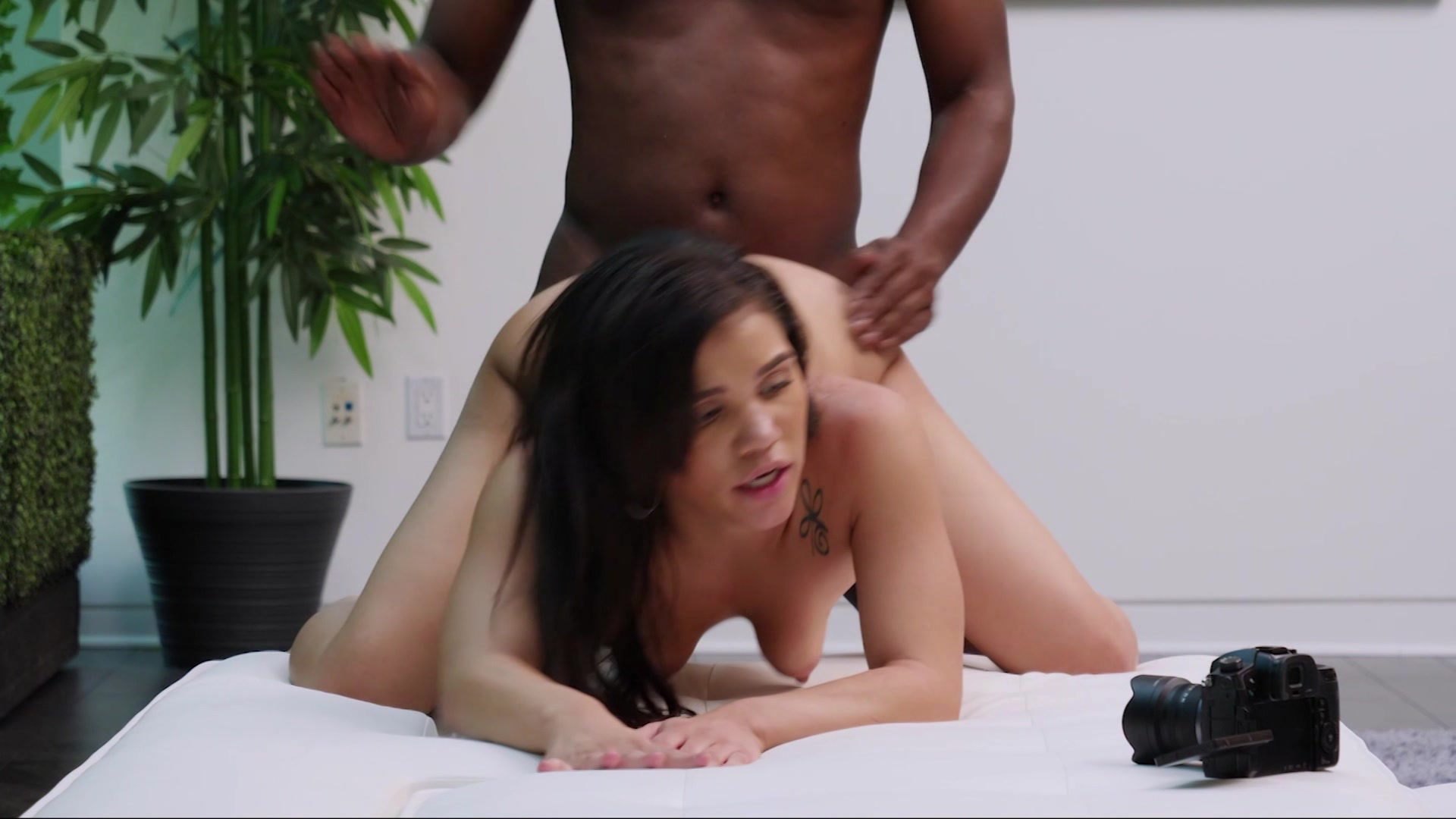 Mature interracial casting