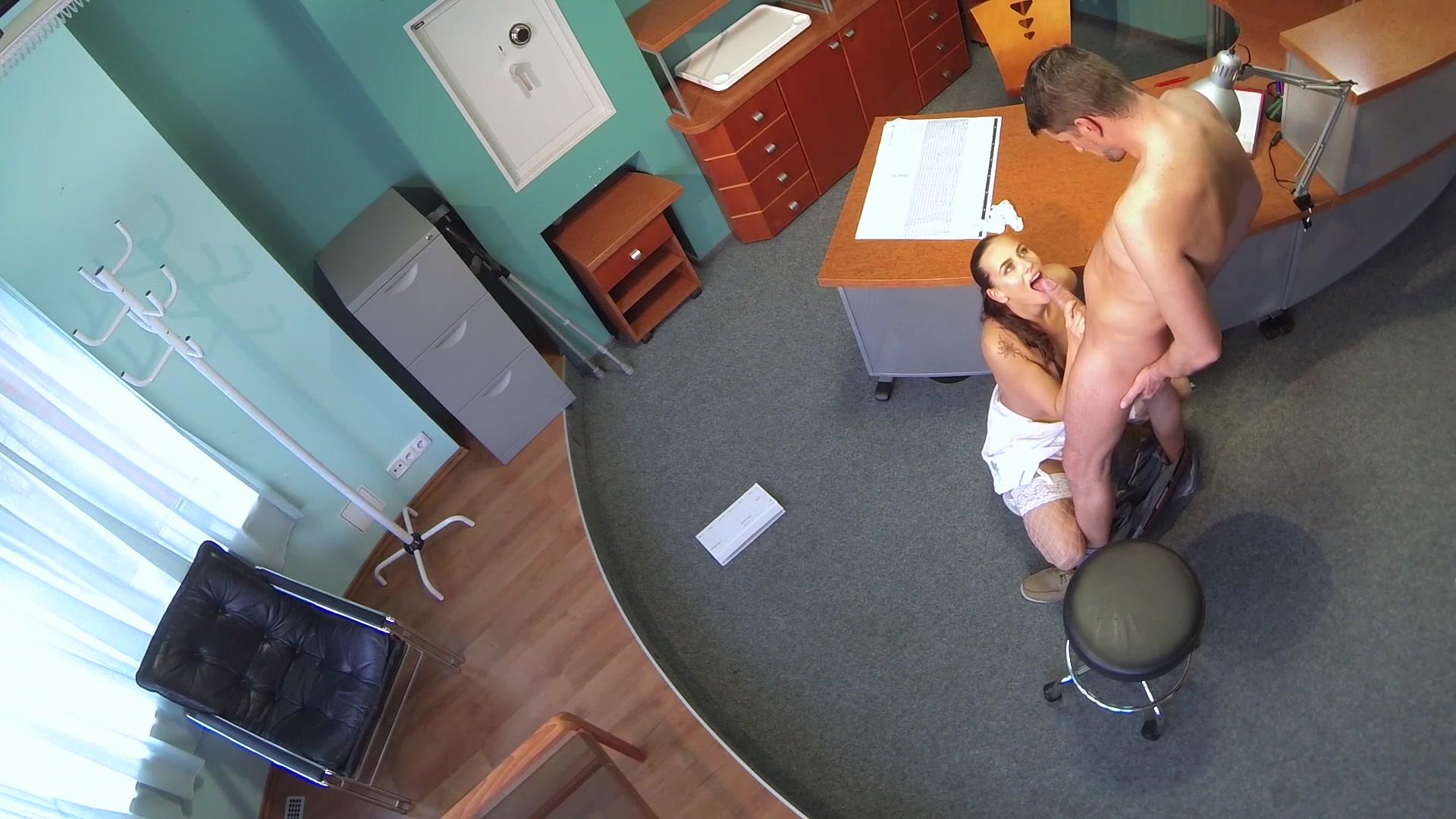 Nervous girl peeing panties in waiting room