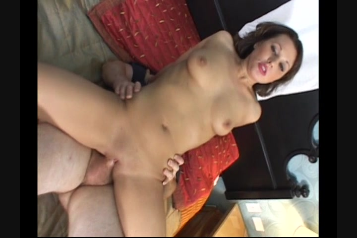 Watch sexy babe takes two dicks
