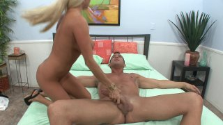 Streaming porn video still #5 from Fuck My Big Titted Wife #9