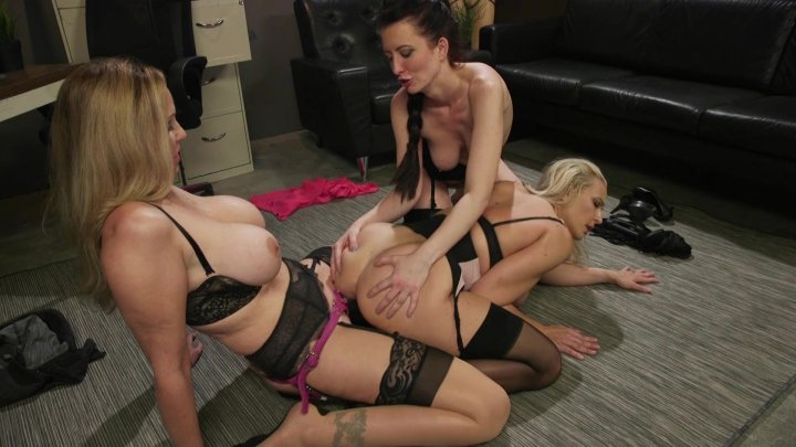 Streaming porn video still #8 from Shush: A Lesbian Blackmail Series - The Complete First Season