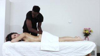 Streaming porn video still #1 from Interracial Latina Massage 2