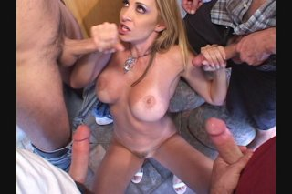 Streaming porn scene video image #1 from Big Tit Blonde Gets The Gangbang Of A LIfetime