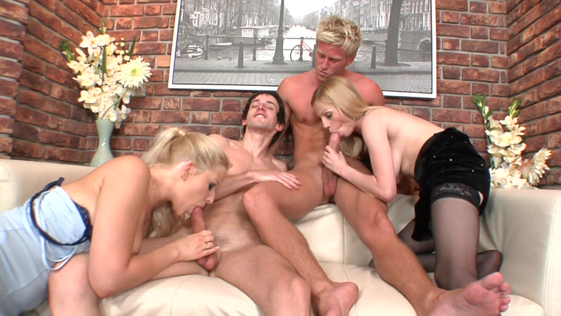 Orgy Between Shemale Woman And Man