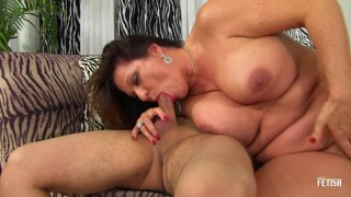 Streaming porn scene video image #2 from Younger Guy Gets Lucky With Thick Granny