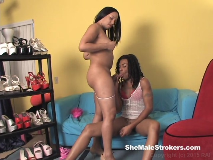Ebony shemale sucking video on demand