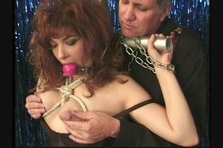 Streaming porn scene video image #3 from Bound And Gagged Slut Gets Milked
