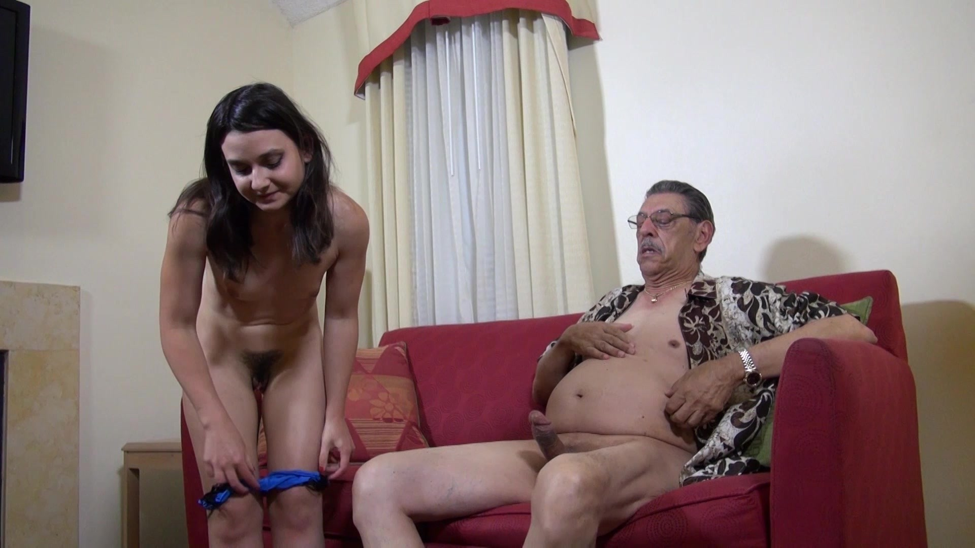 Horny Father Son's Girlfriend Onto Sex