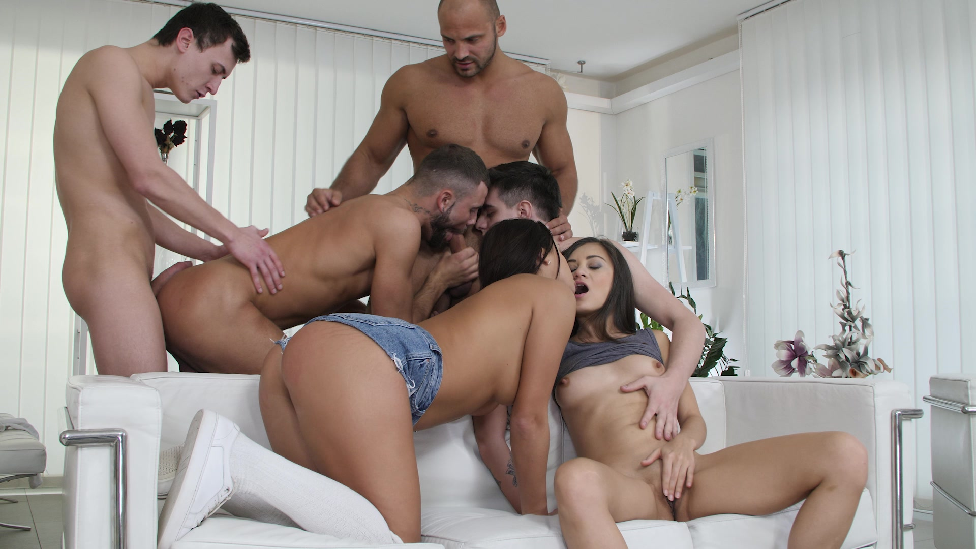 Bisexual orgy porn