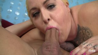 Streaming porn scene video image #6 from Blonde BBW Takes On A Big Dick