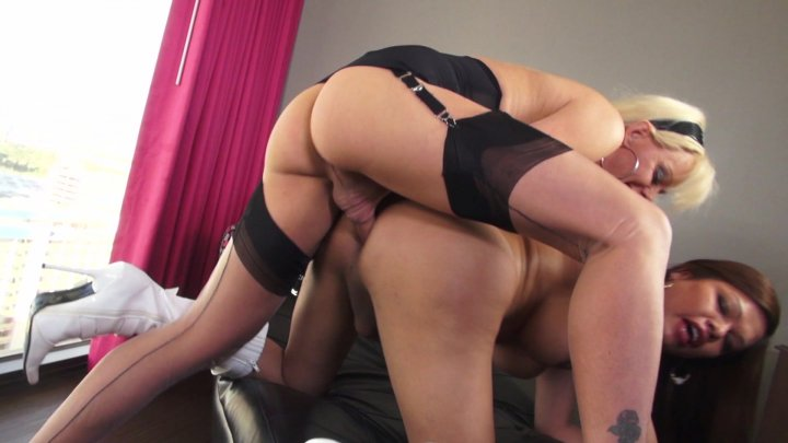 Streaming porn video still #1 from Joanna Jet Loves T-Girls