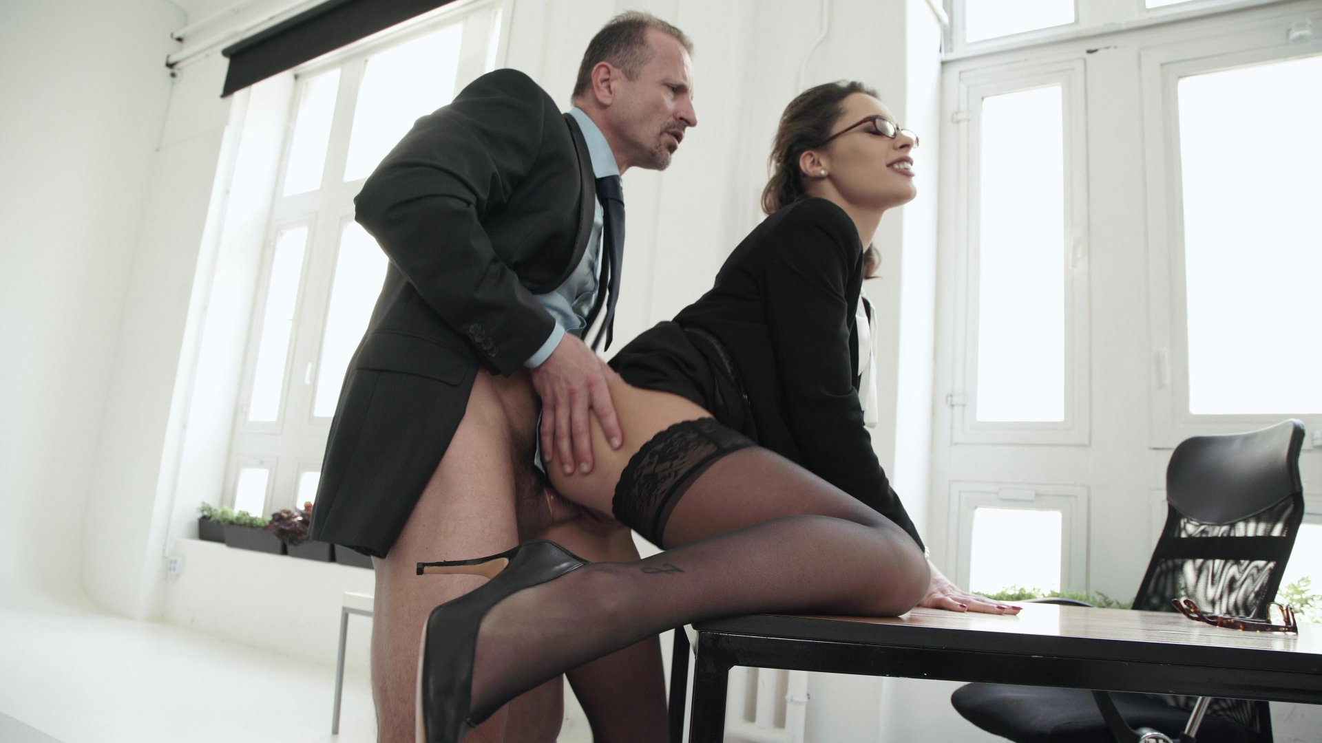 Bridgette b and her husband's boss are often secretly fucking while no one is watching them