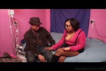 Hot black couple banging