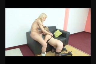 Streaming porn scene video image #7 from Busty Blonde Tranny Fucks Tight Pussy