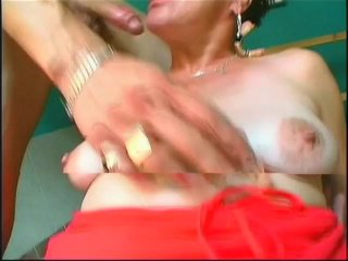 Streaming porn scene video image #9 from Granny uses her plaque to satisfy her two nephews