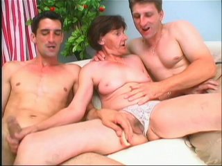 Streaming porn scene video image #1 from Grandma gets hammered by grandsons