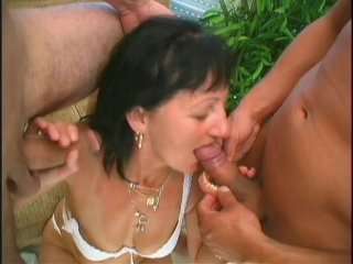 Streaming porn scene video image #4 from Two young dicks nails mature lady