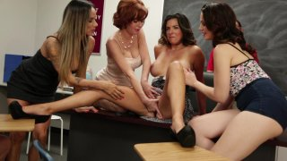 Hot Brunette Gets Nailed from Behind and Squirts